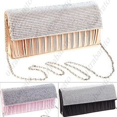 $21.59 - Exquisite Rhinestones Embellished Clutch Bag Evening Bag Shoulder Bag with Chain Strap for Women Ladies from UltraBarato Gadgets