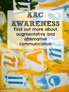 AAC awareness. Find out more about Augmentative and Alternative communication