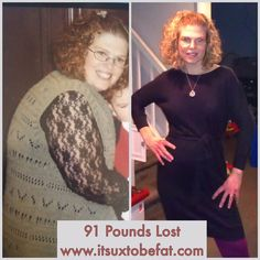 Incredible 91 pound weight loss with #weightwatchers and an inspiring story to go with it!  #itsuxtobefat #inspiration