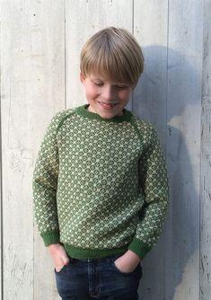 Carl-Emil & # s genser, Knitting For Kids, Baby Knitting, Diy Knitting Projects, Baby Barn, Fair Isle Knitting, Kids Wear, Children Wear, Pullover, Sweater Design