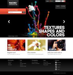 Macrografiks Website by FA Design, via Behance