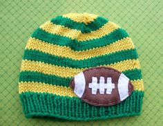 Green & Yellow Football Beanie...Rynes would need to be cardinal and gold