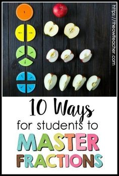10 Ways for Students to Master Fractions Fractions are one of the most difficult areas in elementary math. Help your students master them with these 10 fraction ideas! Teaching Fractions, Math Fractions, Teaching Math, Equivalent Fractions, Fractions For Kids, 3rd Grade Fractions, Simplifying Fractions, Adding Fractions, Comparing Fractions
