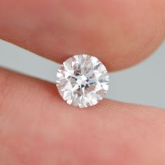 0.80 Carat F Color VS2 Round Brilliant Natural Enhanced Diamond For Wedding Ring #DiamondsCollection