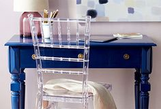 Style your work space with a lucite chiviari chair - so pretty!