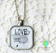 LOVE Crosses Oceans CHINA Square Pendant Tray Necklace Light Project, Mix Match, Oceans, Crosses, One Pic, Dog Tag Necklace, Adoption, Tray, Things To Come