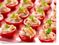Mini tomaat-garnaal!
