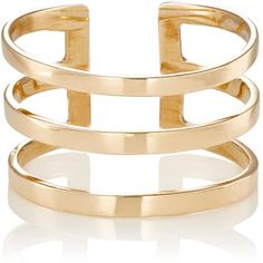 Loren Stewart Women's Gold Midi Cuff Ring (€180) ❤ liked on Polyvore featuring jewelry, rings, no color, yellow gold band ring, gold cuff ring, gold band ring, band rings and 14k gold ring