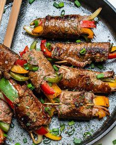 Enjoy these Steak Fajita Roll-Ups for Clean Eats!- Enjoy these Steak Fajita Roll-Ups for Clean Eats! Roll Ups Recipes, Clean Recipes, Beef Recipes, Cooking Recipes, Healthy Recipes, Smoker Recipes, Chicken Recipes, Sirloin Tip Steak, Gastronomia