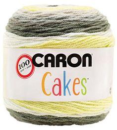 Caron Cakes Self Striping Yarn 383 yd 200 g (Key Lime)