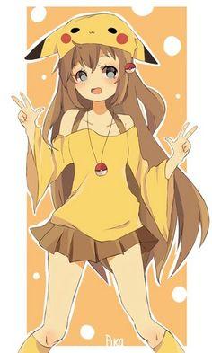 Resultado de imagem para menina anime pikachu
