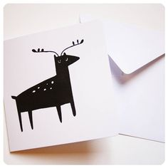 screen printed 'reindeer' christmas card by kayleigh o'mara illustration & crafts | notonthehighstreet.com