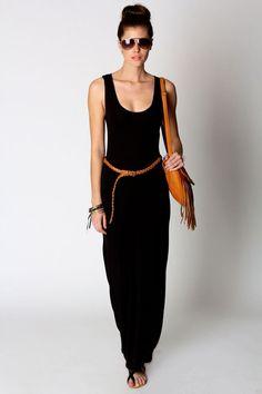 black maxi dress summer style | Big Fashion Show black maxi dress
