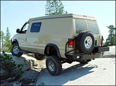 Sportsmobile Custom Camper Vans - 4WD (4 Wheel Drive, 4x4) Aluminess Rear bumper with swing arms...