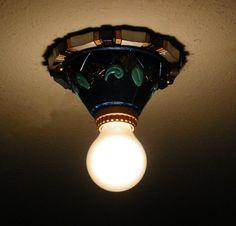 Vintage Lincoln Marietta Art Deco Single Light Fixture Flush Ceiling Fixture by DecoLightingByFrank on Etsy