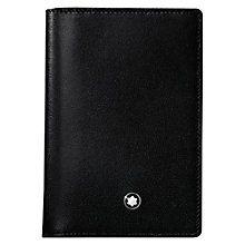 Buy Montblanc Meisterstück Leather Business Card Holder, Black Online at johnlewis.com