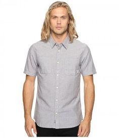 Vans - Pierson Short Sleeve Woven (Gravel) Men's Clothing