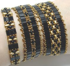 Around The Beading Table: New pattern uploaded: Tila Twin Bands
