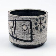 Jaap Dommisse; Glazed Ceramic Vessel, 1950s.