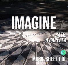 Imagine - John Lennon | SATB A Capella Music Sheet PDF File Uk Singles Chart, Imagine John Lennon, Billboard Hot 100, Song Lyrics, Sheet Music, Encouragement, Religion, Pdf, Songs