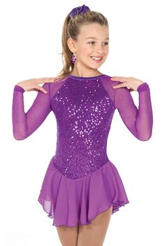 Set in Violet Skating Dress