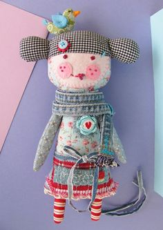 Doll with denim trims by Manifattive (Italy)
