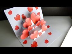 DIY Pop Up Card | Heart Card For Valentine's Day - YouTube