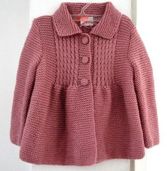 Items similar to Little Princess Coat Sweater for 2 to 3 Year Old Girls - Ready for Worldwide Shipping on Etsy Baby Knitting Patterns, Knitting For Kids, Crochet For Kids, Crochet Baby, Hand Knitting, Knit Crochet, Knitting Ideas, Baby Patterns, Baby Cardigan