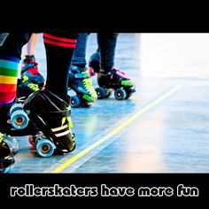 Spent every Friday and Saturday night at the skating rink! :)