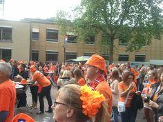 Tijdens de eerste voetbalwedstrijd zaterdag 9 juni 2012 van Oranje op het Raadhuisplein in Zevenaar; Nederland verliest van Denemarken met 0-1.