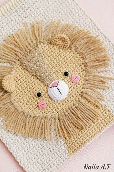 Crochet Panda, Crochet Lion, Crochet For Kids, Crochet Toys, Crochet Baby, Crochet Decoration, Crochet Home Decor, Crochet Wall Hangings, Nursery Wall Decor