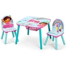 Nickelodeon Dora the Explorer Storage Table and Chairs Set -- To view further for this item, visit the image link.