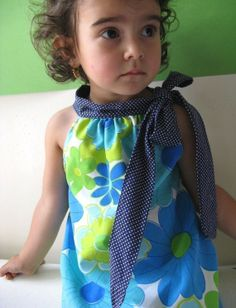 Sweet halter dress, PDF pattern.  Craft, children, girl, clothes