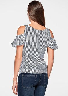 %PC% Flutter sleeve striped top from VENUS