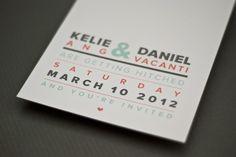 typographic wedding invitation