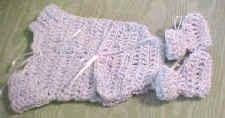 Preemie onesie and booties crochet pattern.