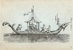 One of hundreds of thousands of free digital items from The New York Public Library. Chinese Boat, Asian Decor, Architectural Drawings, New York Public Library, Yachts, Napoleon, Chinoiserie, Regency, Civilization