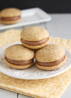 Banana Bread Nutella Whoopie Pies by Traceys Culinary Adventures
