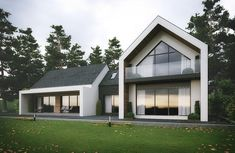 Modern house in Slieve Gullion, Newry, County Armagh designed by eco house Architects Slemish Design Studio. House Extensions, Facade House, Modern House Design, Modern House Exteriors, House Exterior Design, Modern Bungalow, Contemporary Design, Modern Farmhouse, Architecture Design