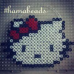 Hello Kitty hama beads by mokamaral