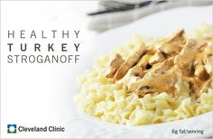 Turkey Stroganoff: A family favorite with a #healthy twist. #stroganoff #recipe