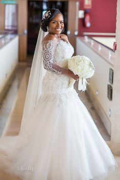 6 Beautiful Wedding Dress Trends in 2020 Perfect Wedding Dress, Dress Wedding, Wedding Bride, Ghana Wedding, Wedding Ideas, African Wedding Dress, Plus Size Wedding Gowns, Black Bride, Long Sleeve Wedding