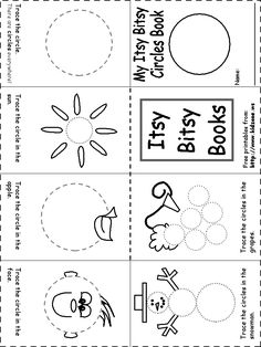 shapes recognition itsy bitsy book