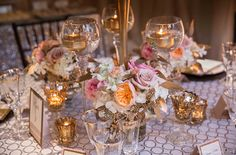 Ivory and Blush Roses on Sparkling Champagne Linens   Champagne Wishes and Botanical Dreams at Casa Amore 2014