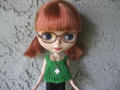 Patrón de Top de Crochet para Muñeca Blythe