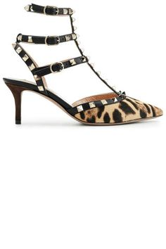 bc3cf0e7472e70 Charting  10 Leopard Shoes to Complete Any Look. Valentino PumpsValentino  RockstudShoes ...