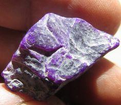 6.80 Grams Grape Purple Semi-Gel Sugilite Gem Rough African Inlay lapidary Cab