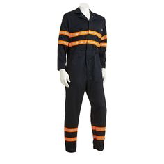 Men's Dickies Enhanced Visibility Coverall, Size: X Lrge M/R, Dark Blue