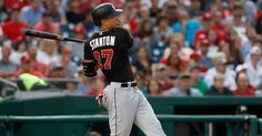 The Marlins slugger used his no-trade clause to block potential deals with the Giants and Cardinals but is said to be willing to play for the Dodgers, Cubs, Astros or Yankees. Basketball Floor, Basketball Goals, Basketball Leagues, Buy Basketball, Giancarlo Stanton, Baseball Tournament, 7 Year Olds, Dodgers, Ny Times