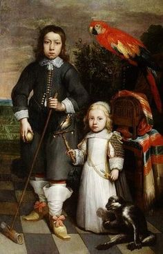 Unknown, Flemish (Portrait of children  Date: 1650  Movement: Baroque